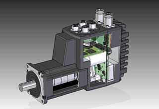 Smart motors like MAC integrated servomotors in one compact unit