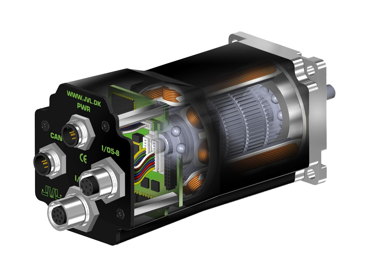 JVL manufactures integrated smart motors & stepping motors