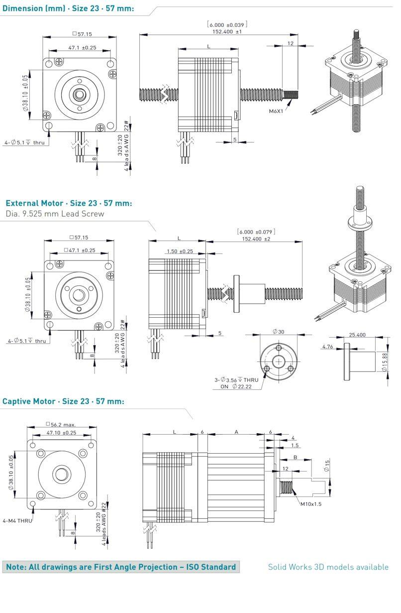 Stepper Motor Linear Actuators Nema23 57mm Jvl Denmark