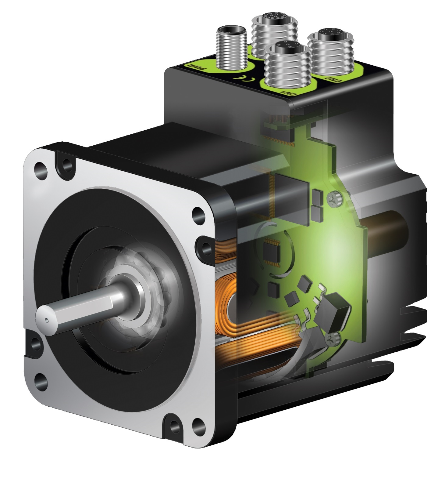 Integrated stepper motor controllers with canbus for What is a stepper motor