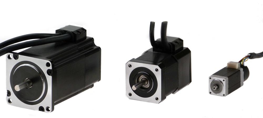 Stepper motor with incremental or absolute multiturn encoder