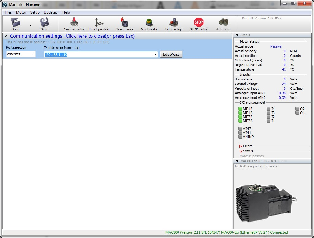 Integrated Servo Motors Software Mactalk Commisioning Tool Nema 23 Stepper Motor Wiring Diagram
